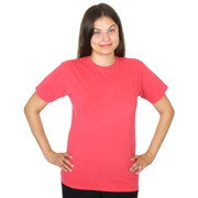 Womens 100% Organic Cotton Solid Color Crew Tee - Poppy