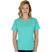 100% Combed Cotton Solid Short Sleeve Tee Aruba