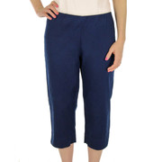 Cotton Blend Wonder Stretch Twill Capri Pant Navy