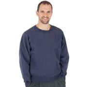 100% Heavy Cotton Crewneck Sweatshirt - Navy Sand