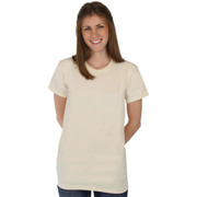 100% Organic Cotton Hypoallergenic Crew Neck NATURAL Tee Grown and Made in