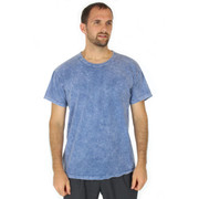 MENs 100% Organic Cotton Hypoallergenic Crew Neck SLATE BLUE Tee Shirt