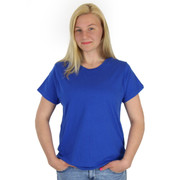 Ladies 100% Combed Cotton Tee 4.2oz Royal Blue