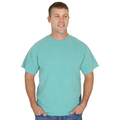 Mens 100% Organic Cotton Solid Color Crew Tee Spruce