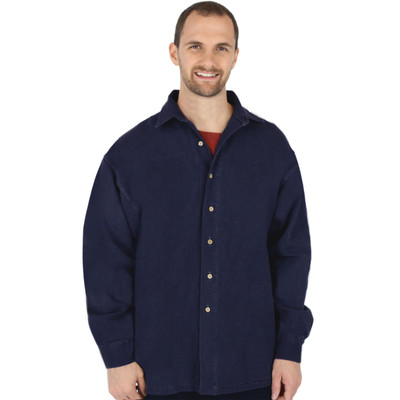 Canton Cotton Chamois Shirt AKA Big Easy GENDER NEUTRAL - Navy
