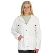 HoneyKomb 100% Cotton Hooded Shirt Jacket WHite
