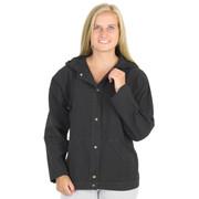HoneyKomb 100% Cotton Hooded Shirt Jacket Black