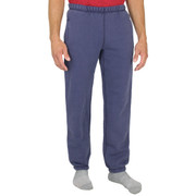THICK 100% All-Cotton 20oz CUFFED SWEAT PANTS for MEN Navy Sand