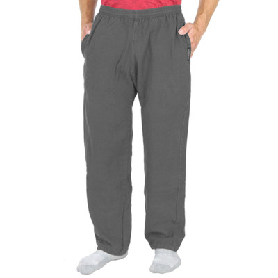 Mens All-Cotton Beefy 8 oz STRAIGHT-LEG SWEAT PANTS Steel