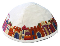 JERUSALEM EMBROIDERED KIPPAH