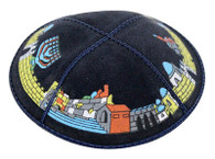 JERUSALEM LEATHER KIPPAH