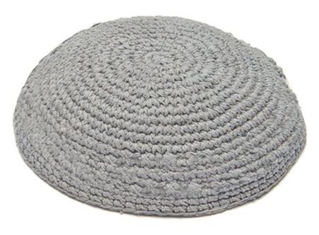 Gray Knitted Kippah
