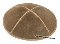 Brown Leather Kippah