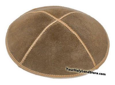 Brown Leather Kippah