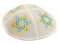 Magen David Leather Kippah