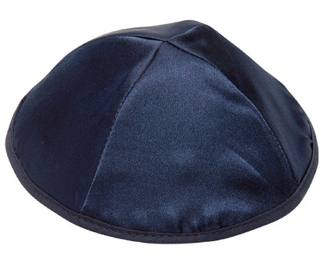 Blue Satin Kippah