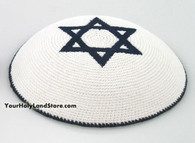 Knitted Kippah with Star Of David