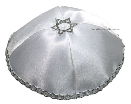Grey Star of David Kippah