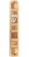Wood Mosaic Mezuzah