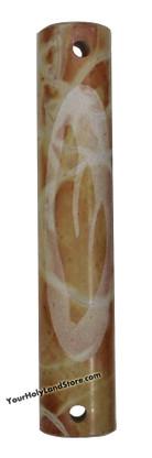 Jerusalem Stone Carved Mezuzah