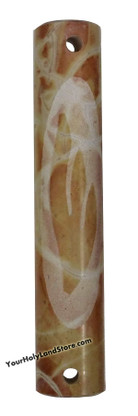 Jerusalem Stone Carved Mezuzah