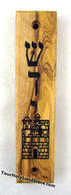 OLIVE WOOD MEZUZAH with Jerusalem View
