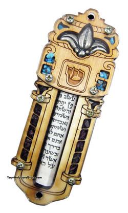 HAND MADE WOOD MEZUZAH
