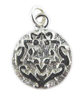 Silver Star of David and Blessing Pendant