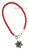 Kabbalah Red String Bracelet with Star of David