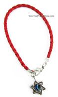 Kabbalah Red String Bracelet with Star of David