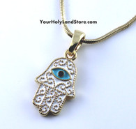 Kabbalah Hamsa with Evil Eye Necklace