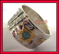 KABBALAH SILVER & GOLD HAMSA PROTECTION RING