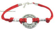 Kabbalah Red String Bracelet with Shema Yisrael Circle