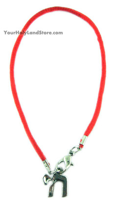 Red String Bracelet with Chai