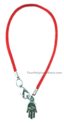 Kabbalah Red String Bracelet with Hamsa Hand