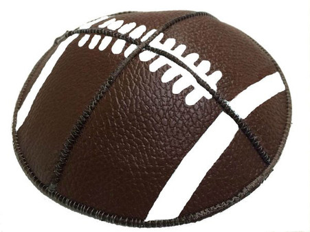 Football Leather Kippah