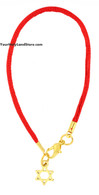 Kabbalah Red String Bracelet with Star of Magen David