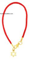 Kabbalah Red String Bracelet with Star of Magen David