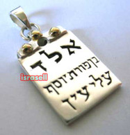 KABBALAH STERLING SILVER PROTECTION FROM EVIL EYE PENDANT