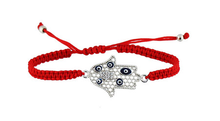 Kabbalah Red String Bracelet with Hamsa