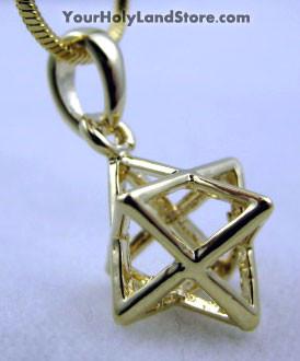 Kabbalah Merkabah Gold Plated Necklace