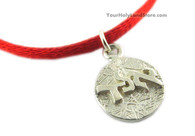 Kabbalah Red String Bracelet with Safeguarding Pendant