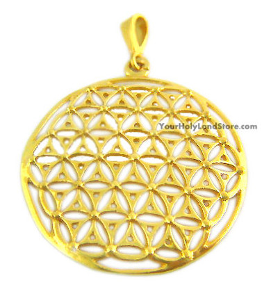 Gold Plated Flower Of Life Kabbalah Pendant