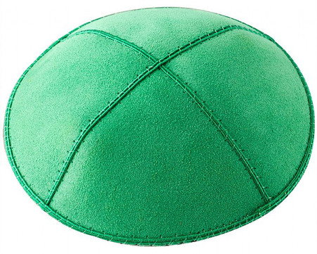 Personalized Green Suede Kippah