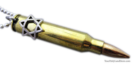 Star of Magen David Bullet Pendant