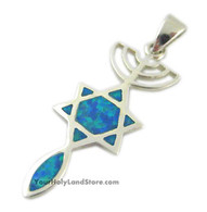 "MESSIANIC ""GRAFTED IN"" OPAL PENDANT"