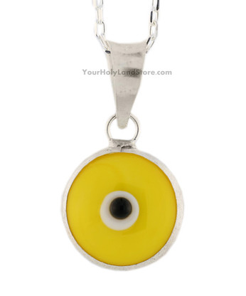 PROTECTION PENDANT AGAINST EVIL EYE - Yellow