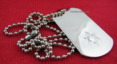 SUPPORT ISRAEL NECKLACE with Star of David