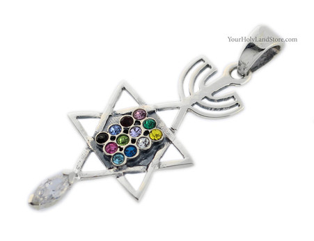 Sterling Silver MESSIANIC PENDANT with Hoshen Plate