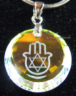 SWAROVSKI HAMSA & STAR OF DAVID NECKLACE